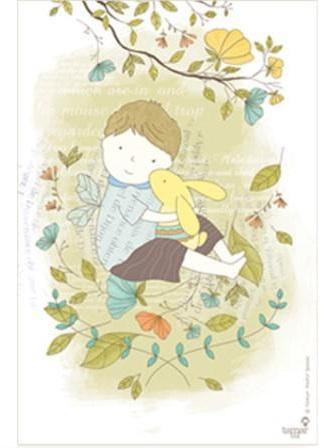 ילד עם ארנב