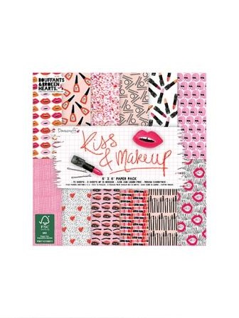 Dovecraft Kiss and Makeup 6x6 Paper Pack