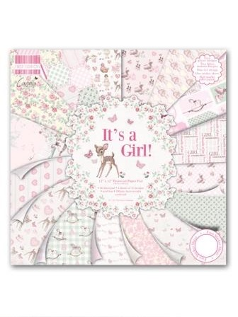 It's a Girl 12x 12 Papers
